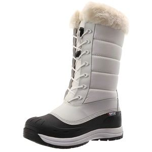 Baffin Iceland White with Fur Cuff Snow Boots Sz 7